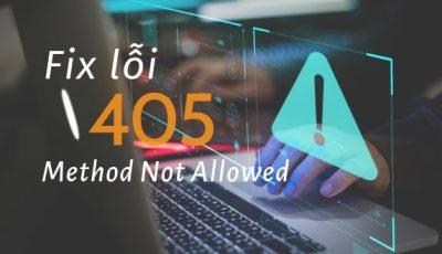 fix lỗi 405 method not allowed