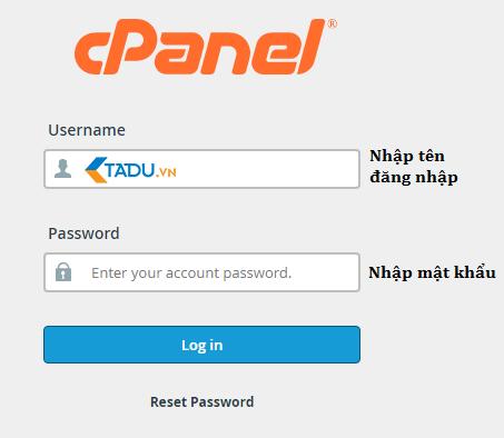 đăng nhập Cpanel