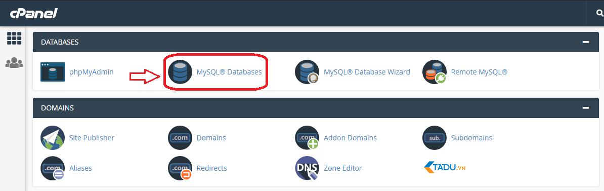 tạo cơ sở dữ liệu bằng MySQL Database