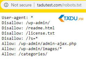 file robots.txt cho WordPress