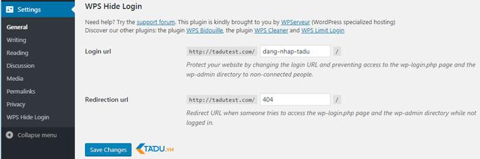 bảo mật wordpress với wps hide login